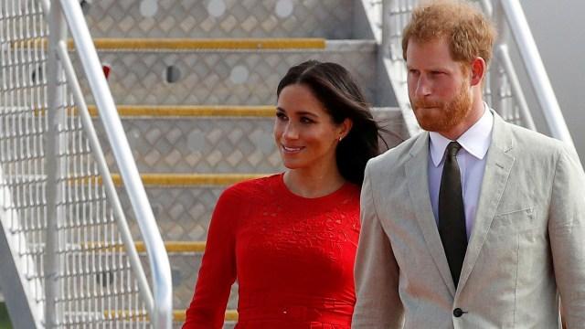 El príncipe Harry y Meghan Markle tuvieron un pequeño susto (Reuters)