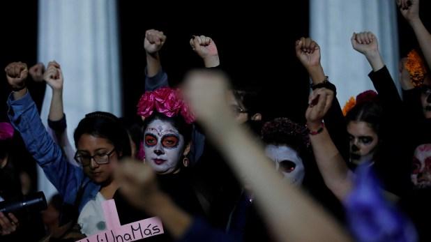 Protestas contra los asesinatos de mujeres. (Foto: Reuters)