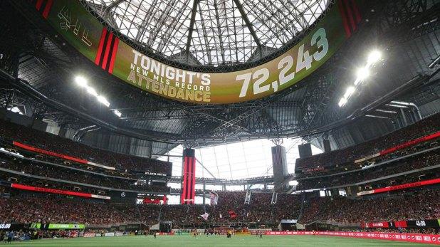 En el primer partido del 2018, el Atlanta United fue apoyado por más de 72.000 hinchas (AP)