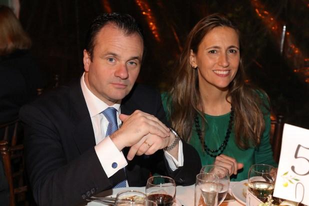 Juan Pablo Maglier, director de Relaciones Institucionales de La Rural, y su mujer Magdalena Maglier