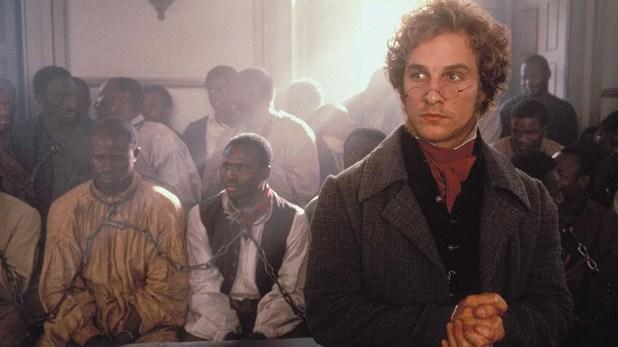 Matthew McConaughey and Djimon Hounsou en Amistad (1997)