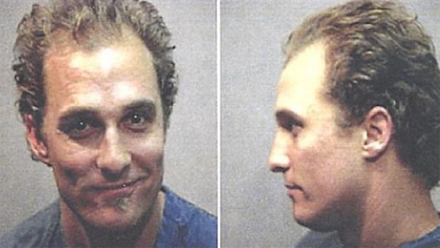 La foto policial de Matthew McConaughey
