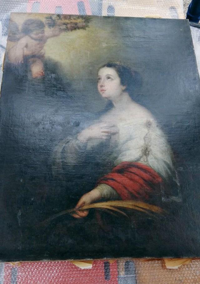 La obra había sido robada junto a otras seis piezas en un museo de la ciudad de Rosario (fotos: www.minterior.gub.uy)
