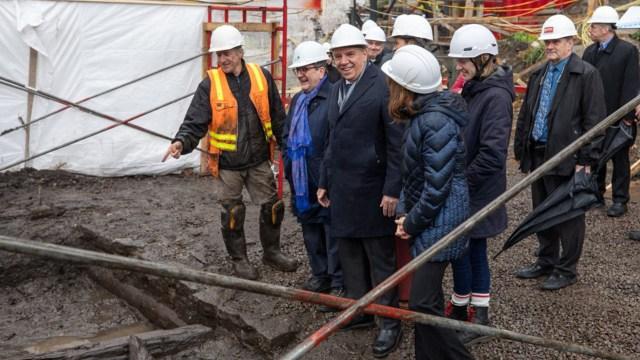 La estructura fue descubierta a unos 20 metros durante los trabajos previos a la construcción de viviendas en el barrio histórico de la ciudad.(Ministerio de Cultura de Quebec)