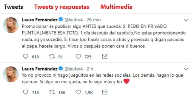 Los furiosos mensajes de Laurita Fernández contra Flor Vigna
