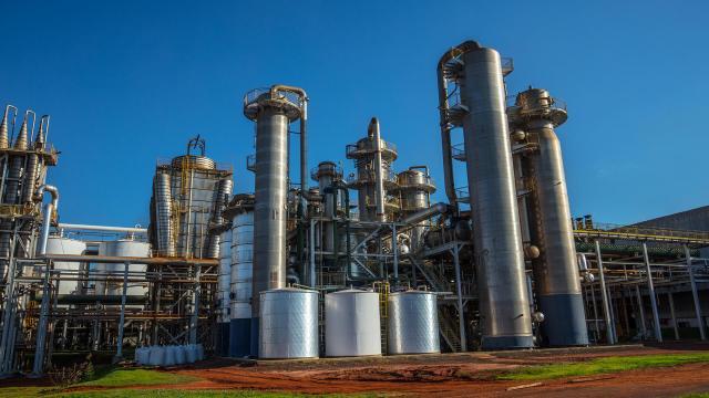 Una de las plantas que produce etanol en Brasil