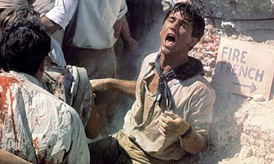Mel Gibson en el film Gallipoli, sobre la Primera Guerra Mundial