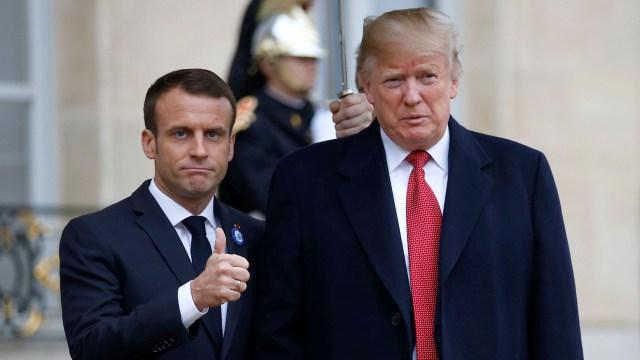Emmanuel Macron recibió a Donald Trump (Reuters)