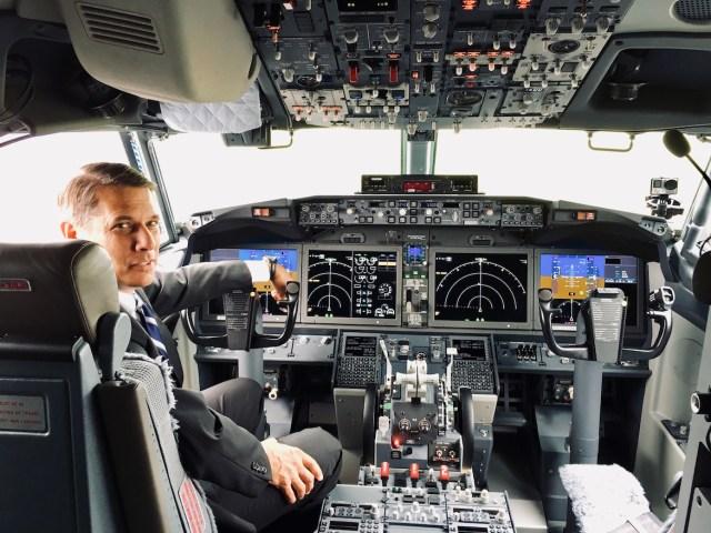 La cabina del 737 MAX