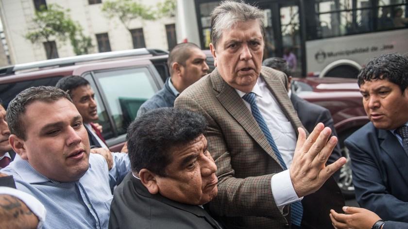 El ex presidente peruano Alan García (ERNESTO BENAVIDES / AFP)