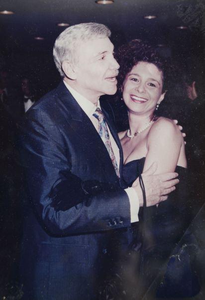 Junto a su padre, Alejandro Romay