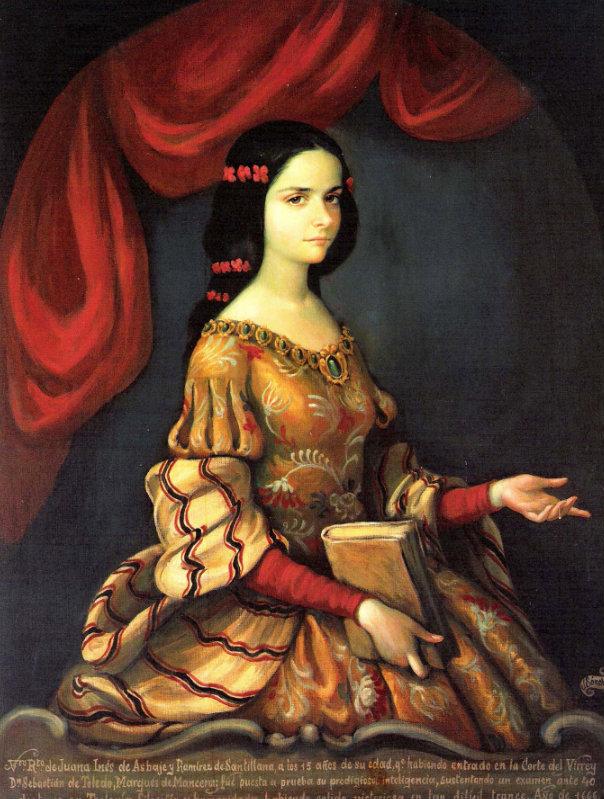 Sor Juana Inés de la Cruz de joven
