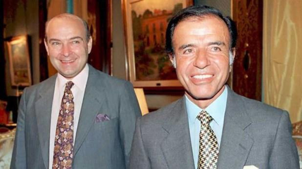 Domingo Cavallo y Carlos Menem (AFP)