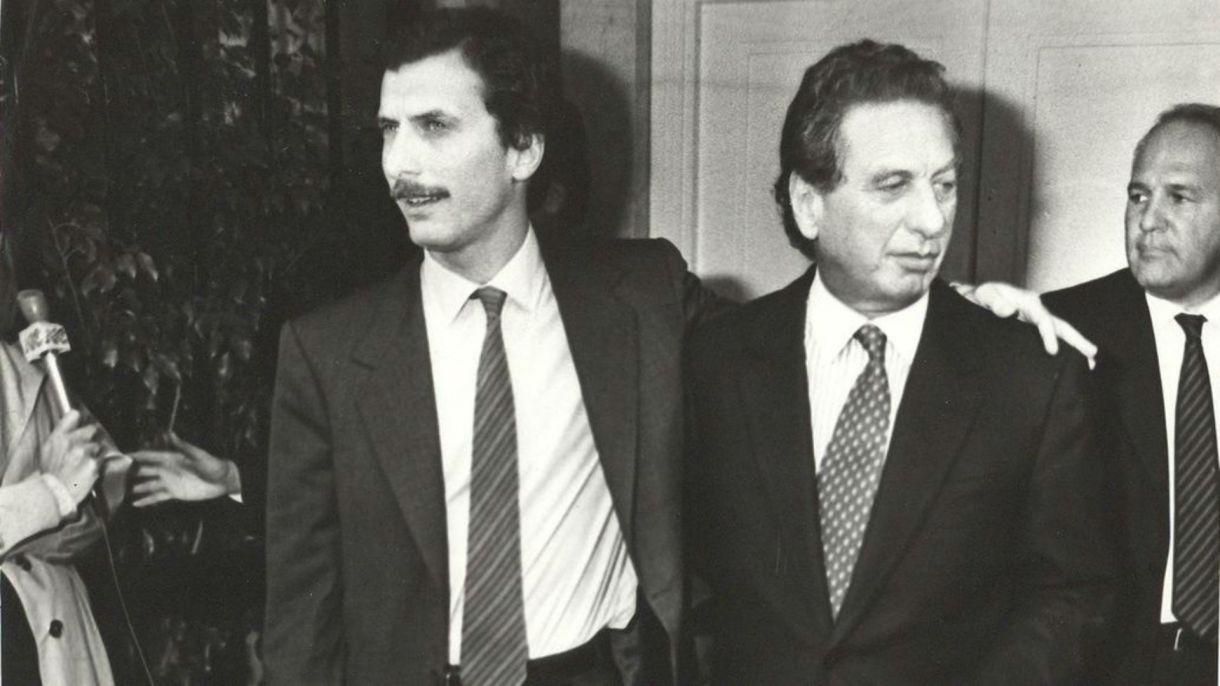 Mauricio y Franco Macri.