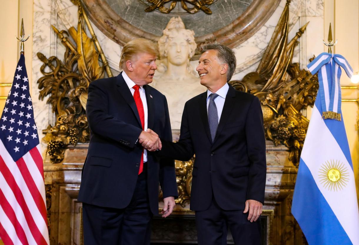 Mauricio Macri recibió a Donald Trump en la cumbre del G20.