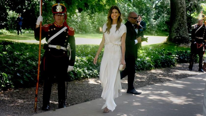 Juliana Awada ofició de anfitriona en la recepción de Villa Ocampo (Nicolás Stulberg)