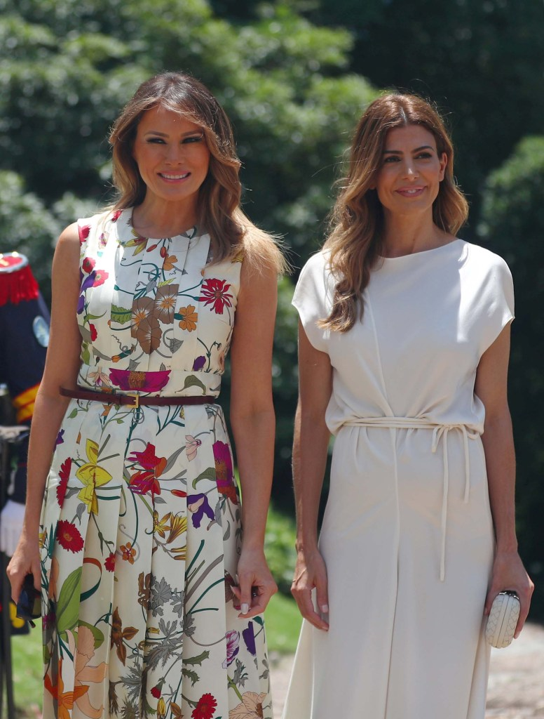 Melania Trum y Juliana Awada posan para las cámaras (REUTERS/Pilar Olivares)