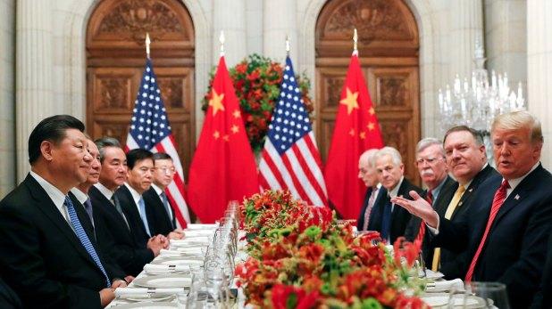 Donald Trump y Xi Jinping durante la reunión que mantuvieron el sábado en la noche en Buenos Aires. (Reuters)