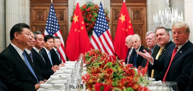 Xi Jinping y Donald Trump en una cena durante la cumbre del G20 en Buenos Aires