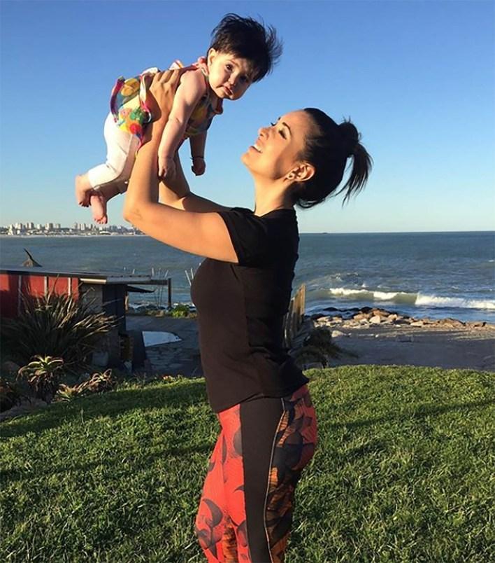 Andrea Estévez y su hija Hannah