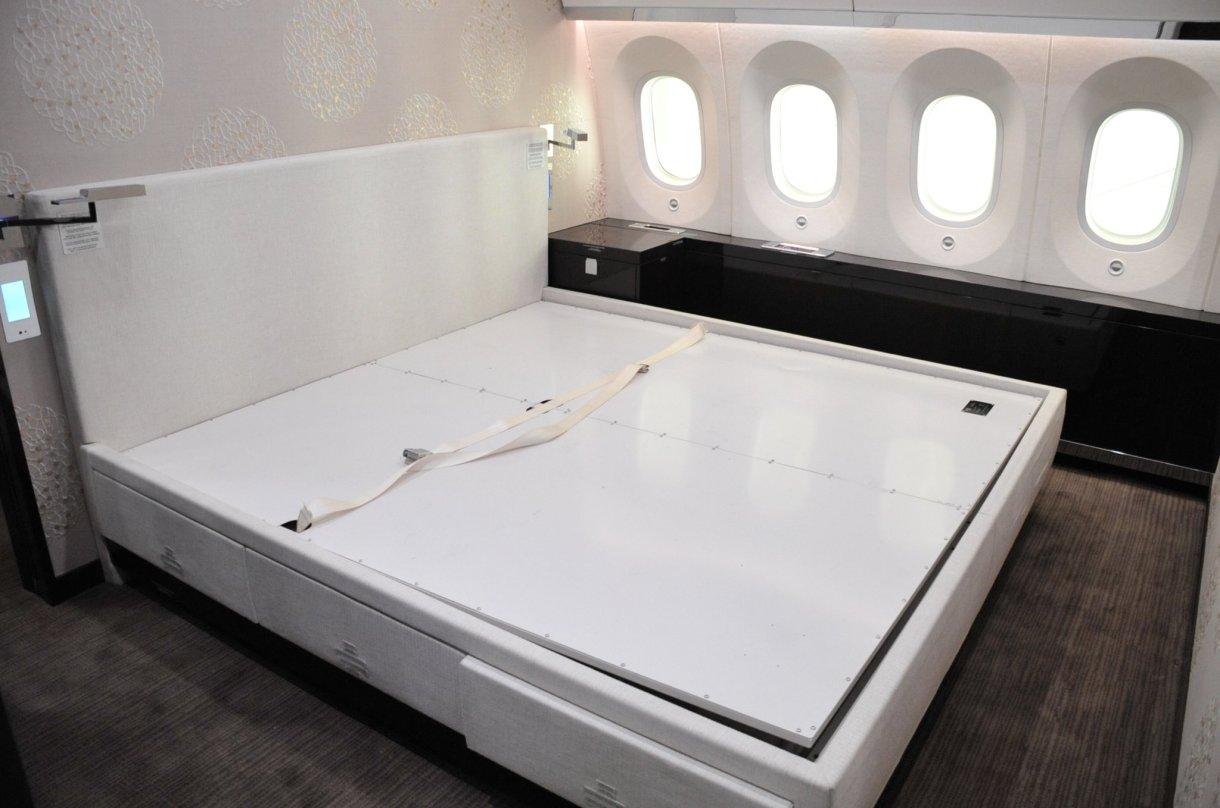 Interior del avión presidencial (Foto: SHCP)