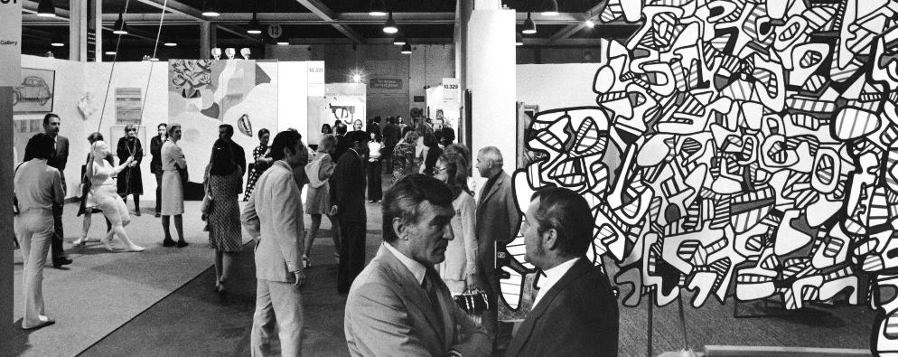 Art Basel en 1972: a apenas dos años de fundada, la feriafue un éxitointernacional. (Art Basel)