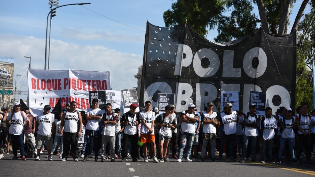 Los manifestantes del Polo Obrero (Manuel Cortina)