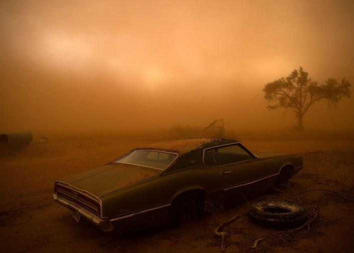 Tormenta de arena Ralls, Texas