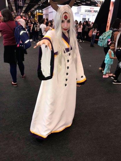La también paulista María Julia disfrazada de princesa Kaguya.