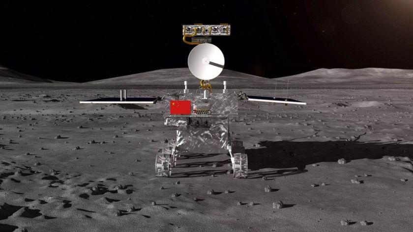 Un dibujo de la sonda Chang'e-4 (CNSA)