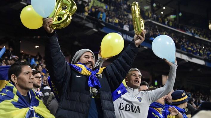 Los fanáticos de Boca le recordaron a River su paso por la B Nacional