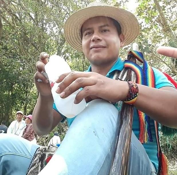 El primer caso que se presentó el 7 de diciembre fue el del gobernador del resguardo indígena Huellas de Caloto, Edwin Dagua Dipia.