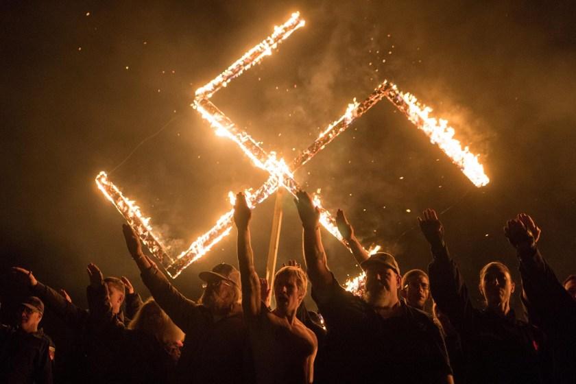 Reunión de supremacistas blancos en EEUU, en abril de 2018 (Foto: Reuters)