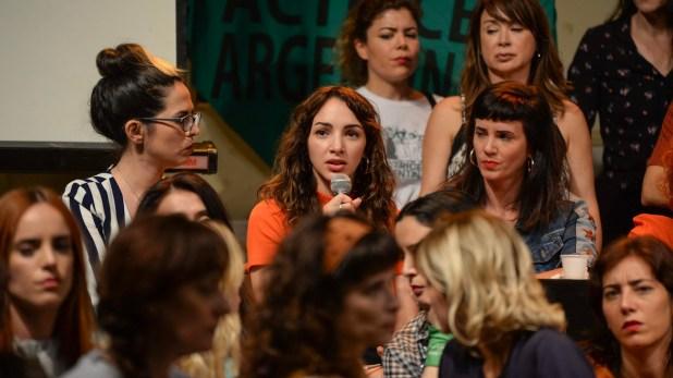 Thelma estuvo acompañada por el colectivo Actrices Argentinas