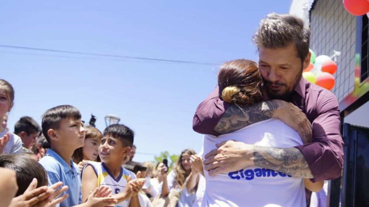Sueño cumplido: Mendoza recibe el abrazo de Tinelli
