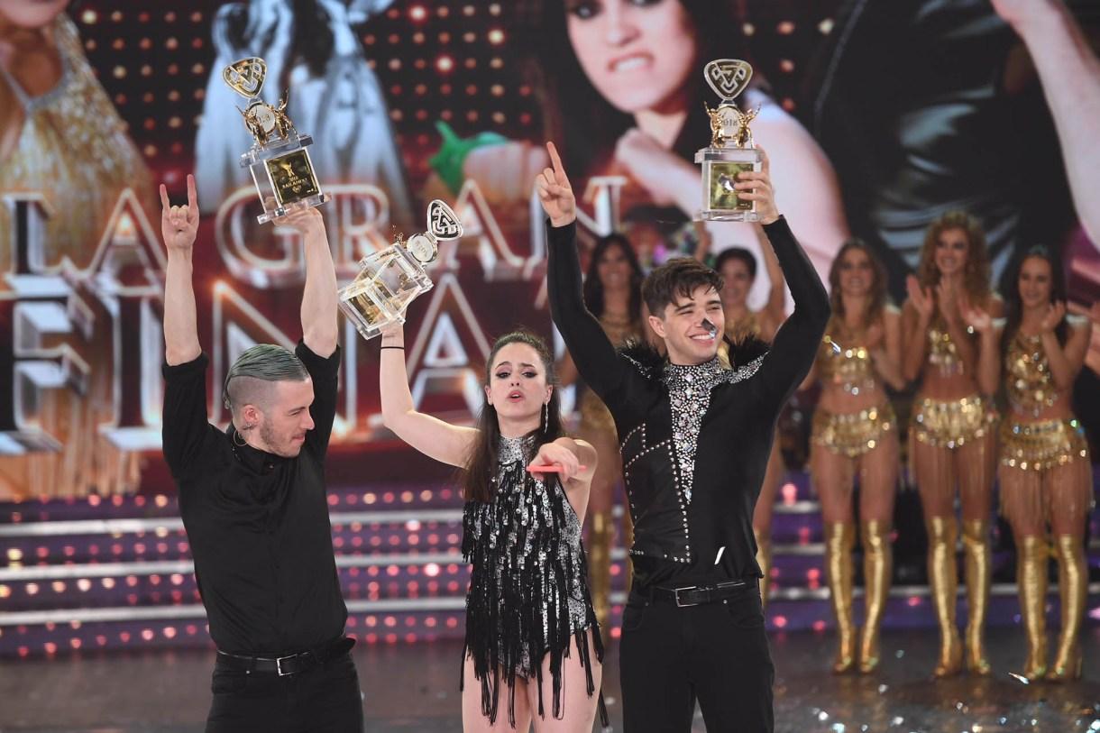 """En el """"Bailando"""", Sofía Morandi y Julián Serrano compitieron contra Jimena Barón y Mauro Caiazza. La primera pareja se consagró ganadora en el voto telefónico (50,86%, frente al 49,14% )"""