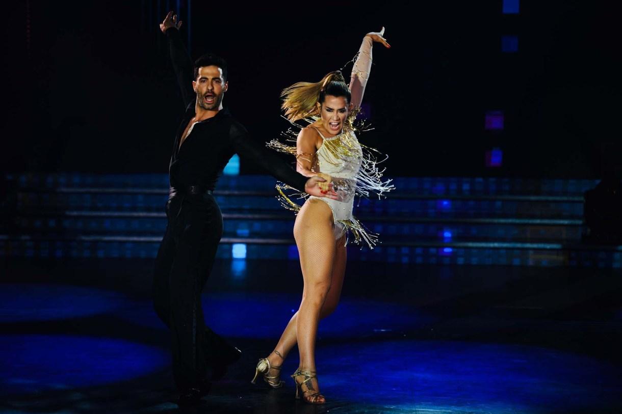 """Jimena Barón y Mauro Caiazza llegaron a la final del """"Bailando"""". La actriz fue una de las revelaciones del certamen. Además, está en pareja con su partenaire (Crédito: Laflia)"""