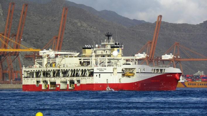 El buque Ramform Tethys, de ExxonMobil (AP)