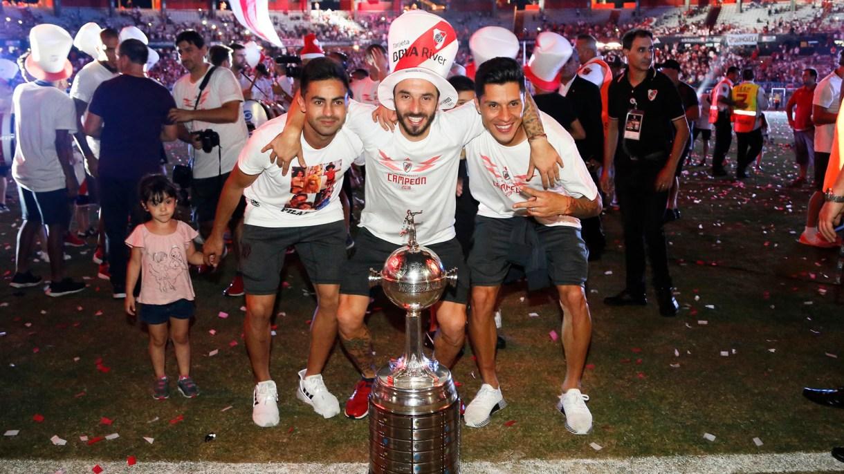 "El ""Pity"" junto a ""Nacho"" Scocco y Enzo Pérez"