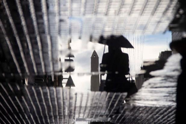 Día de lluvia en el centro porteño (Manuel Cortina)