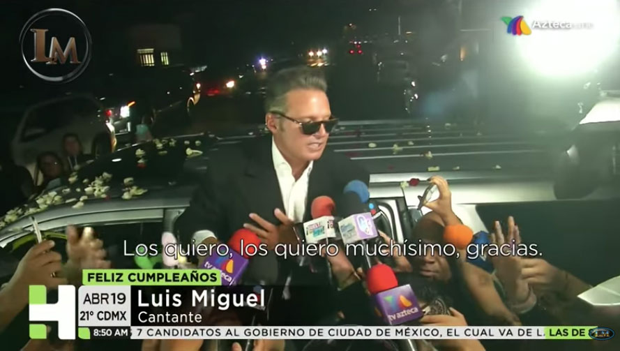 En el pasado, Luis Miguel no saludaba a sus fans al término de sus conciertos (Foto: Captura TV Azteca)