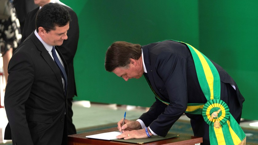 Sergio Moro y Jair Bolsonaro