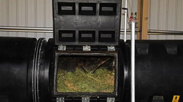 El recipiente donde se realiza el compost (Washington State University)