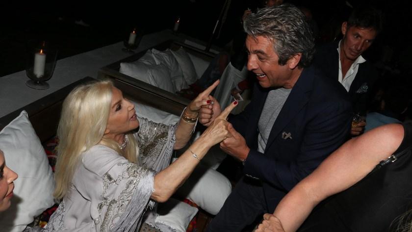Susana Giménez con Ricardo Darín en la fiesta de Giuseppe Cipriani (Grupo Mass)