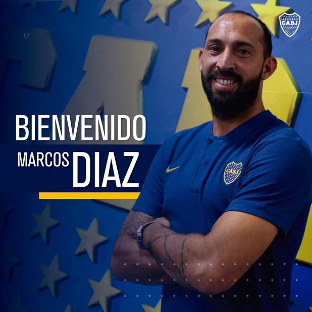 Marcos Díaz se transformó en refuerzo de Boca (@BocaJrsOficial)
