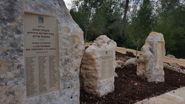 El monumento en homenaje a Nisman