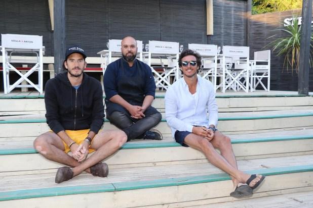 Simon Rodríguez junto a Pico Mónaco y Panchi Grimaldi (Fotos: Matías Souto)