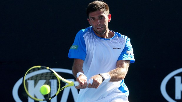 Delbonis no pudo con el local Millman (EFE/ Hamish Blair)