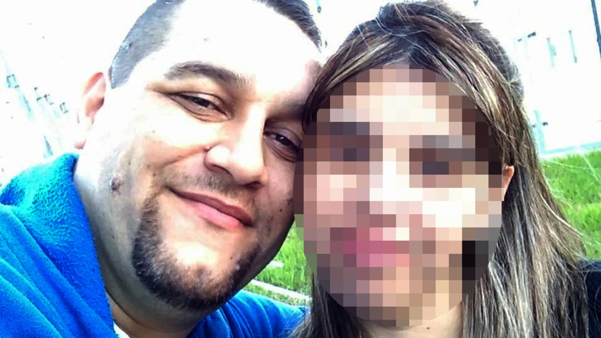 Daniel Machado y su pareja