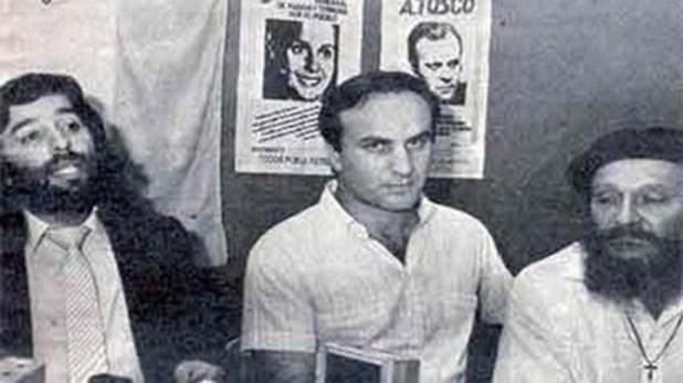 Pancho Provenzano, rodeado de Jorge Baños y el fray Antonio Puigjané